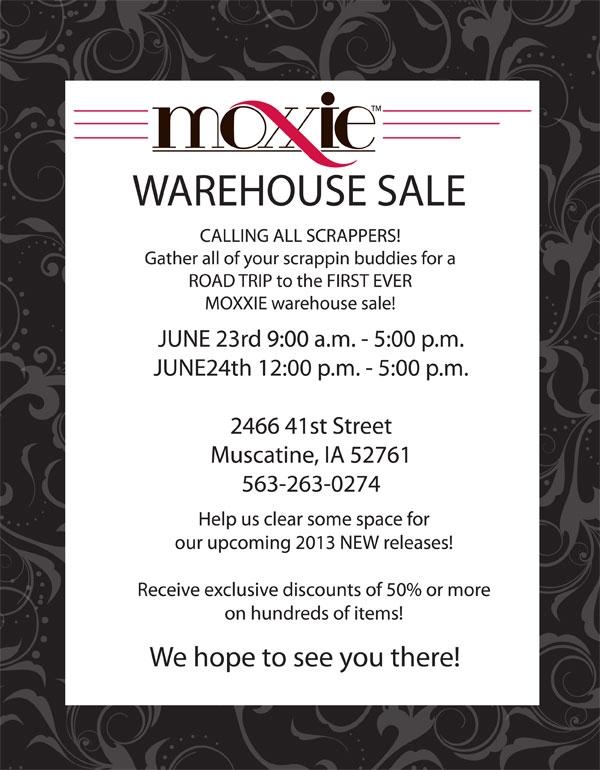 Warehouse sale flyer