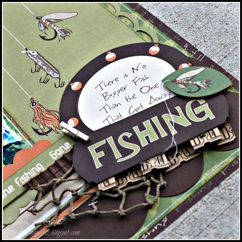 Rhonda- Gone fishing layout details