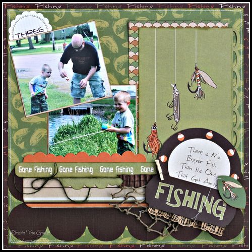 Rhonda- Gone fishing layout
