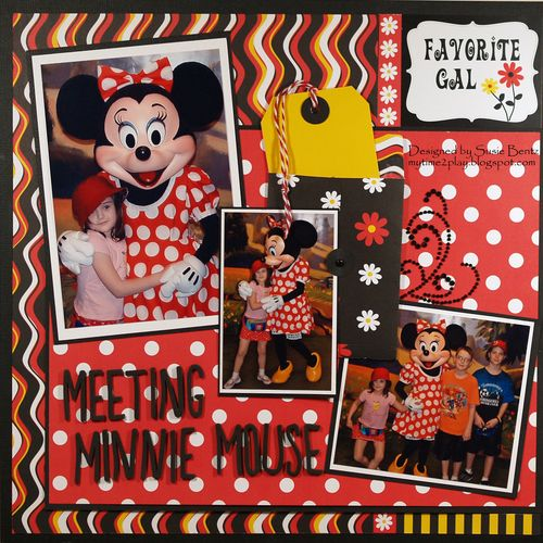 Moxxie Magical Moments Layout Susie Bentz Want2Scrap Bling T