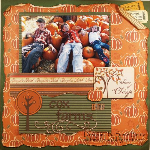Moxxie Forever Fall Cox Farms Layout Susie Bentz Want2Scrap BlingT