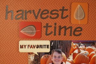 Moxxie Forever Fall Harvest Layout Susie Bentz title
