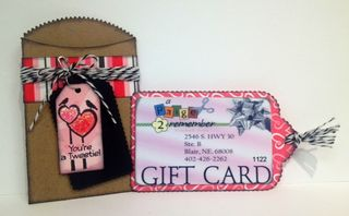 Valentine gift card holder 2