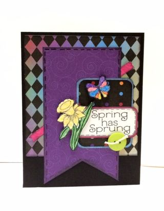A night to remember spring card