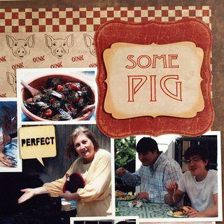 Moxxie Farm Pig BBQ Spellbinders Labels Susie Bentz