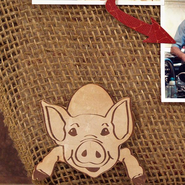Moxxie Farm Pig BBQ Barbecue layout detail by Susie Bentz