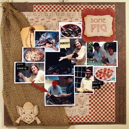 Moxxie Farm Pig BBQ Barbecue Layout Susie Bentz