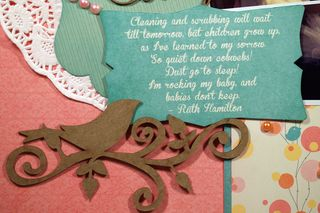 Moxxie Wee Ones Diecuts Want2Scrap Bird Flourish Chipboard