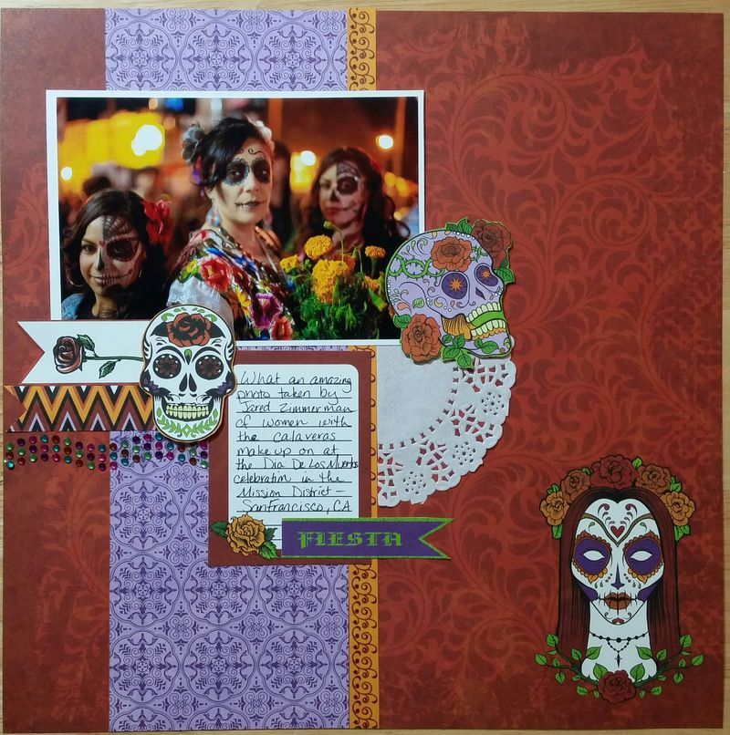 Moxxie Day of the Dead layout 2 Peggy Stolley